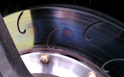 لکههای آبی روی دیسک