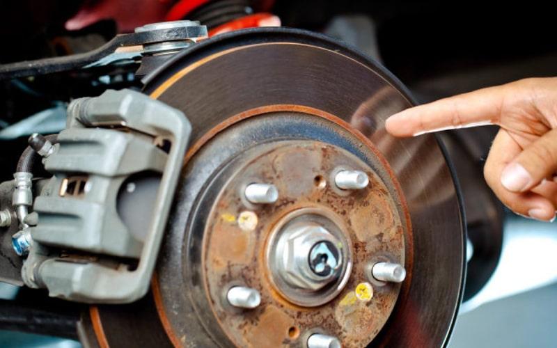 لرزش دیسک چرخ